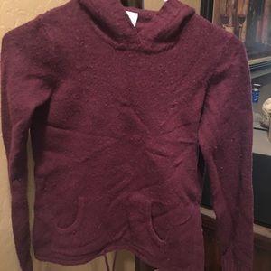 Hoodie sweater in burgundy